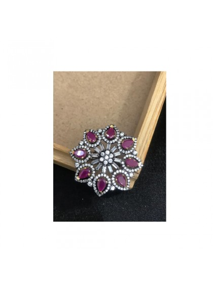 Ad Pink Stone Ring