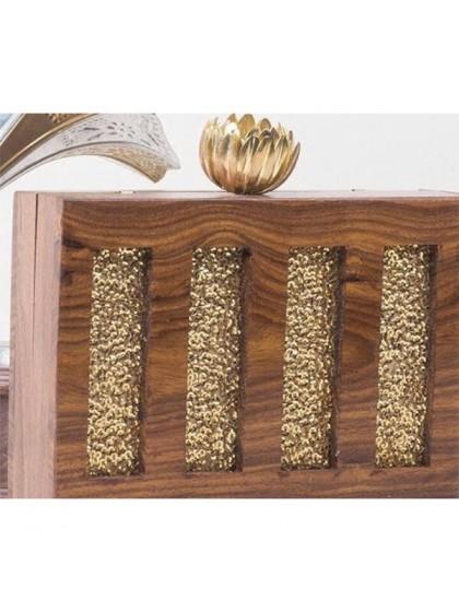 Wooden Sequied Clutch
